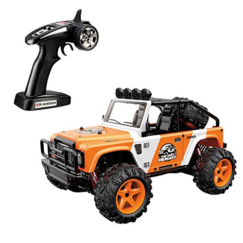SZJJX RC Cars, 45KM/H High Speed Racing Remote Control Monster Trucks 1/22 Scale 4WD 2.4Ghz Radio Controlled Off-Road Vehicle Rock Crawler Fast Electric Desert Buggy (Orange)