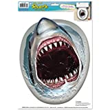 Shark Toilet Topper Peel 'N Place Party Accessory (1 count) (1/Sh)