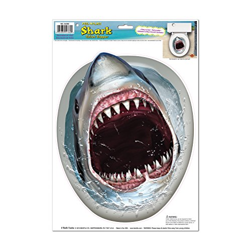 Shark Toilet Topper Peel U0027N Place Party Accessory (1 Count) (1/Sh)