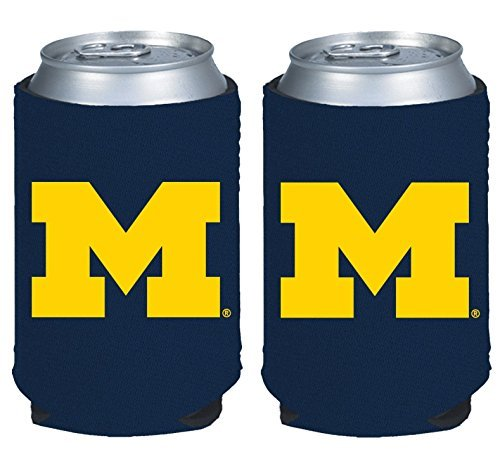 NCAA College 2014 Team Logo Color Can Kaddy Holder Cooler 2-Pack (Michigan Wolverines)