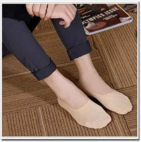 c69a58a8f Breathable Ice Silk Socks for Mens Womens,No Show Fashion Cotton Ice Silk  Soft Non