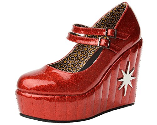 (T.U.K. Shoes A8941L Womens Mary Janes, Red Star Mary Jane - US: Women 11)