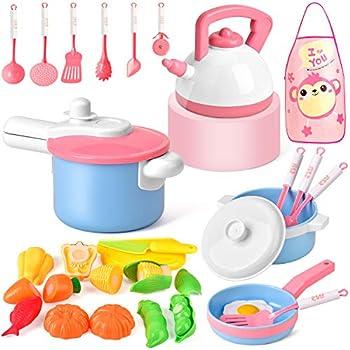 Amazon.com: Set de cocina para cocina, juguetes de corte ...
