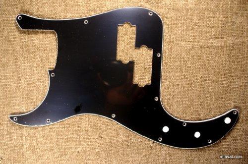 Custom 3 Ply LEFT-HANDED Precision Bass PB Guitar Pickguard 13 Hole -BLACK (C23)