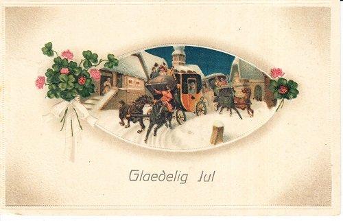 Denmark Postcard - Vintage Postcard Denmark 1915 Christmas Holiday Greetings