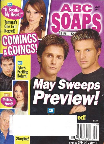 Billy Warlock, Steve Burton, General Hospital, Heather Tom - May 10, 2005 ABC Soaps in Depth Magazine [SOAP OPERA]