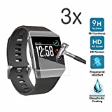 for Fitbit Ionic Screen Protector(3pack), for Fitbit Accessory Fit Bit Ionic Grade HD Clear Soft TPU Touch Protective Full Body Coverage Anti-Bubble Film for Fitbit Smart Fitness Watch Tracker
