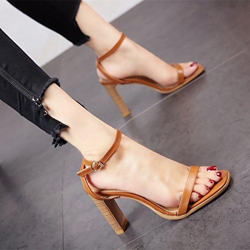 europeo a In stile moda sandali YMFIE retrò punta eleganti tacco alto estate dame' scarpe dEOw1xnq