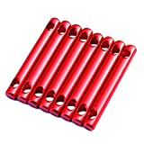 8Pcs Aluminum Alloy Tent Cord Tensioner Guyline Adjuster Tent Accessories for Camping Hiking Outdoor Activity (Red)