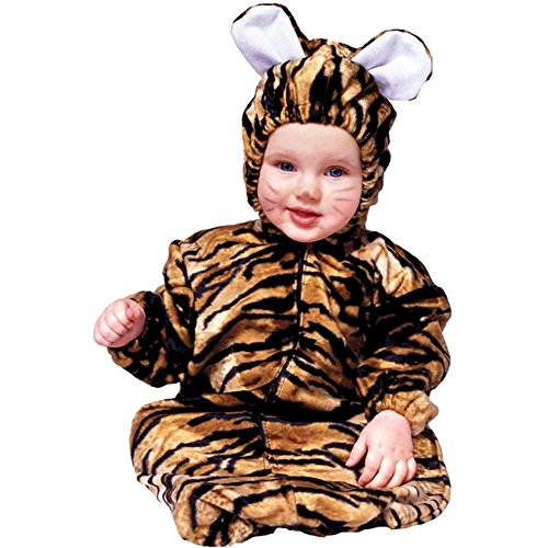 Little Baby Tiger Costumes (RG Costumes Bunting Little Tiger Velboa Infant/Toddler Costume, Standard)