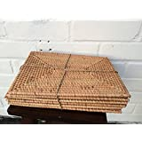 Java Rectangular Rattan Placemats - Set of 6 (rat-rect) by Ginger Interiors