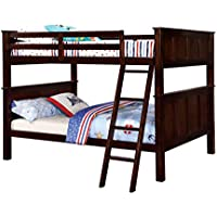 HOMES: Inside + Out ioHOMES Fidel Contemporary Bunk Bed, Full, Dark Walnut