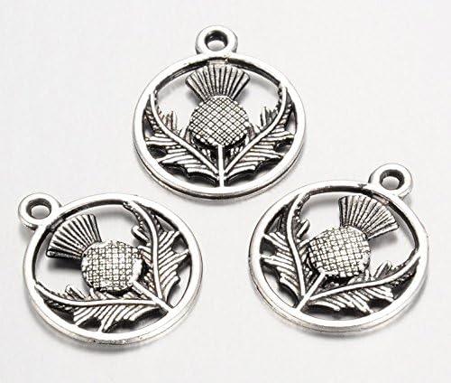10 x Tibetan Silver Bee  Pendant Charms