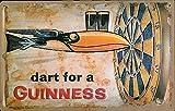 Dart For A Guinness Embossed Steel Sign 12'' x 8'' (hi)