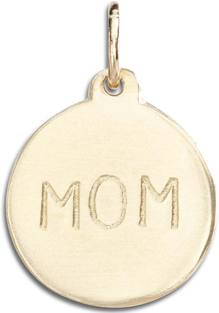 Helen Ficalora ''Mom'' Disk Charm Yellow Gold