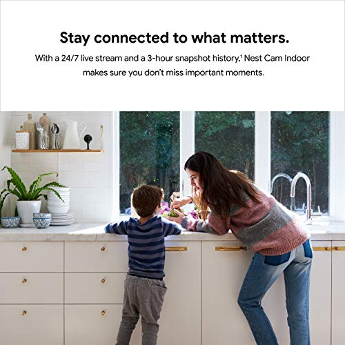 Google Nest Cam Indoor - Wired Indoor Camera for Home Security - Control with Your Phone and Get Mobile Alerts…