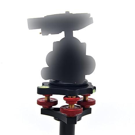 Sharplace Veledge lp-64 Base de Nivelación de Trípode con 3 Cuadrantes Accesorio de Cámara