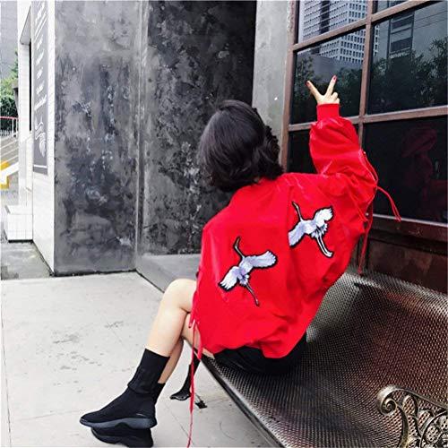 Largo Tendencia Outerwear Mujeres Niña Cortos Fashion Bomber Cremallera Manga Rot Flores Chaqueta Mujer Con De Battercake Chaquetas Piloto Casuales Relaxed Bordadas qHacx8c