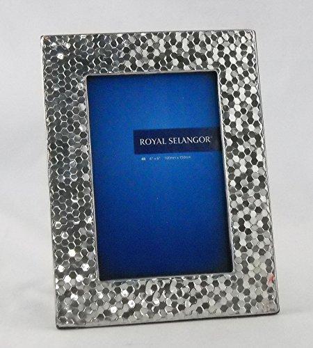 Royal Selangor 013013R Honeycomb Photoframe, 5'' x 7'', Pewter by Royal Selangor