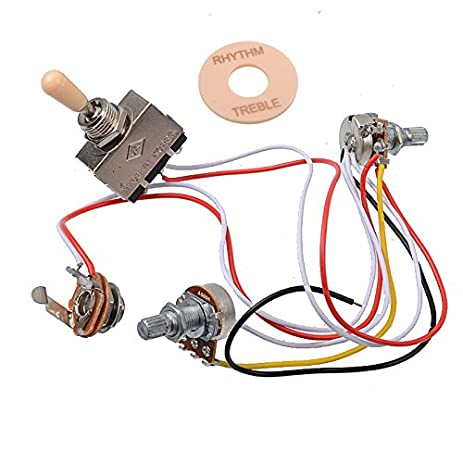 amazon com getmusic electric guitar wiring harness prewired kit 3 rh amazon com PRS Wiring Harness Telelcaster Wiring Harness