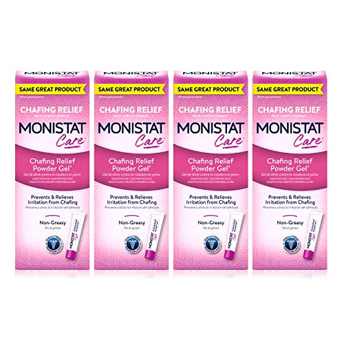 MONISTAT Care Chafing Relief Powder Gel, Anti-Chafe Protection, 1.5 oz, 4 Pack