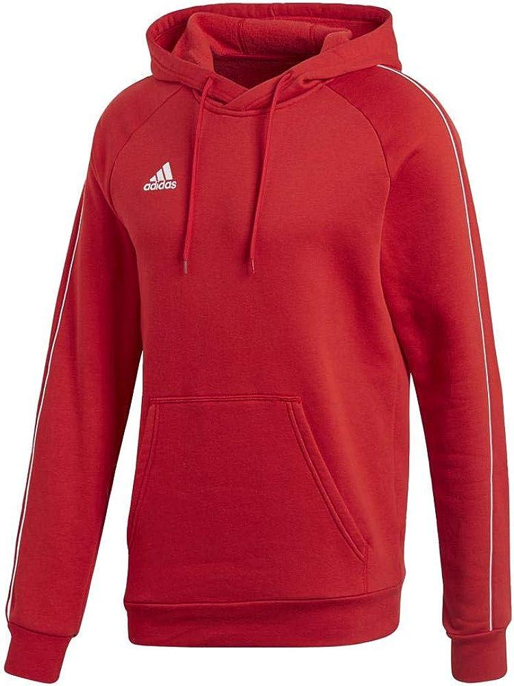 adidas Herren Core18 Hoody Sweatshirt Power Red/White