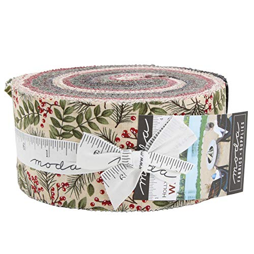 Winter Manor Jelly Roll 40 2.5-inch Strips by Holly Taylor for Moda Fabrics 6670JR