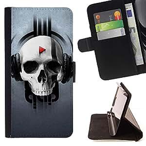 Momo Phone Case / Flip Funda de Cuero Case Cover - Modelo del cráneo de la música - Sony Xperia Z1 L39