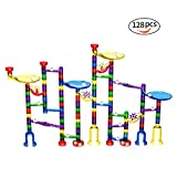 Blumir 128pcs Marble Run Set for Kids-Educational Construction Marble Game Toy