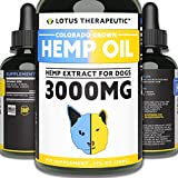THERMASENSA Hemp Oil for Dogs for Pain Relief & Dog Anxiety Relief -...
