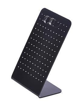 Stands piezas Espárragos joyería pie titular la - , estudios los 2 Expositores de exhibición negro pendientes tapones aretes oído del pendiente soporte: ...