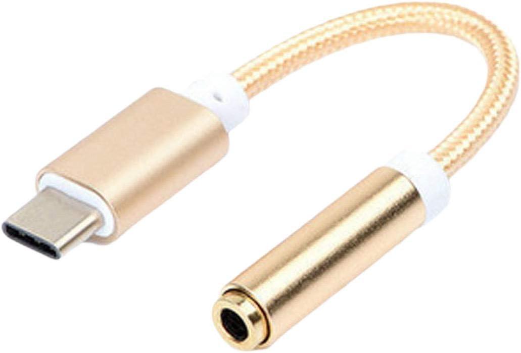 NoyoKere C/âble de Charge Audio USB Type C /à 3.5 Adaptateur pour /écouteurs Type C /à 3,5 mm Convertisseur Audio pour Casque Compatible pour xiaomi 6