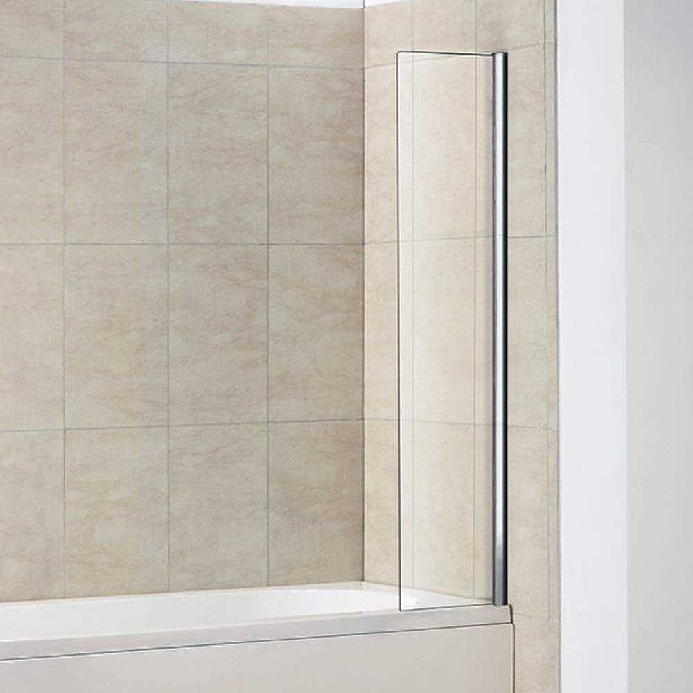 300x1400mm Fixed Bath Shower Screen Over Bath Square Screen Aica