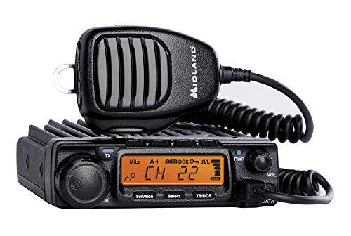 Midland - MXT400, 40 Watt GMRS MicroMobile Two-Way Radio - Up to 65 Mile Range Walkie Talkie, 8 Repeater Channels, 142 Privacy Codes (Single Pack) (Black)