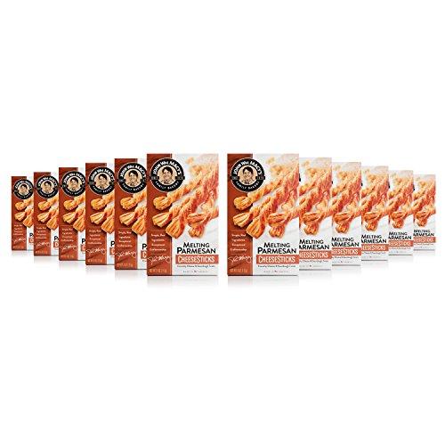 Parmesan Cheese Straws - John Wm. Macy's CheeseSticks, Melting Parmesan, 4 Ounce Box, Pack of 12
