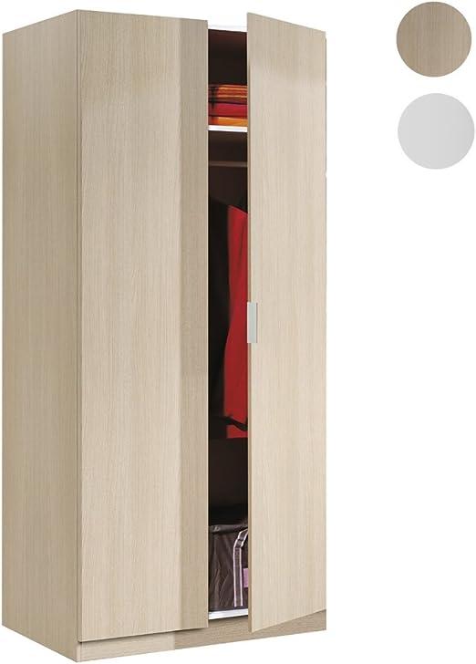 Habitdesign LCX022R - Armario Dos Puertas, Color Roble, Medidas ...