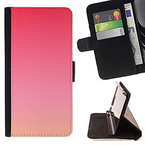 - purple sunset summer peach orange - - Prima caja de la PU billetera de cuero con ranuras para tarjetas, efectivo desmontable correa para l Funny HouseFOR Samsung Galaxy Note 3 III