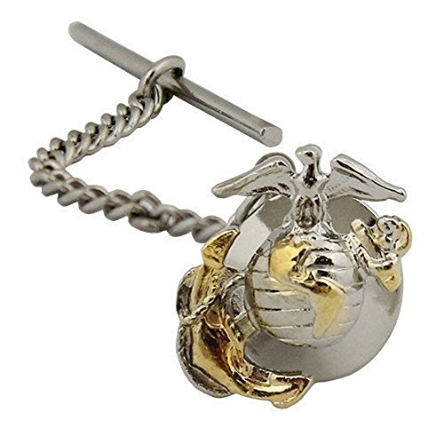 (US Marine Corps Officer Tie Tac - 2 Tone - Gold & Silver Emblem by Vanguard)