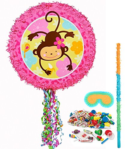 Monkey Love Pull-String Pinata Kit
