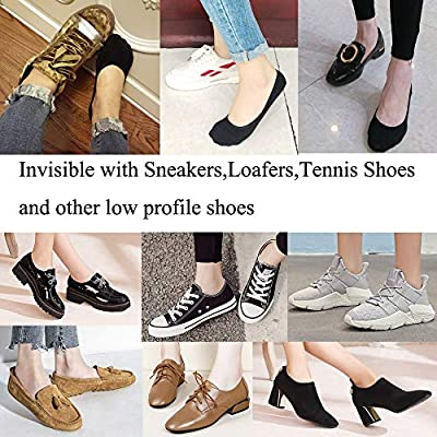 No Show Socks For Women Casual Low Cut Sock Liners With Non Slip Grips Women's Cotton Invisible Socks