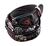 Skull Studded Leather Belt Hip Hop Rock Punk Waist Belt (120cm)