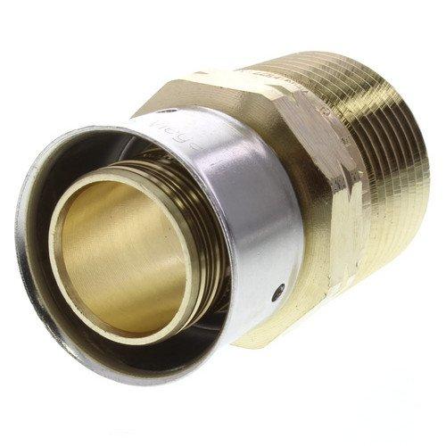 Zero Lead Bronze 1inch PEX Press x 1inch M NPT Adapter whit Attached Sleeve