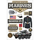 PAPER HOUSE 3D Stickers, Marines