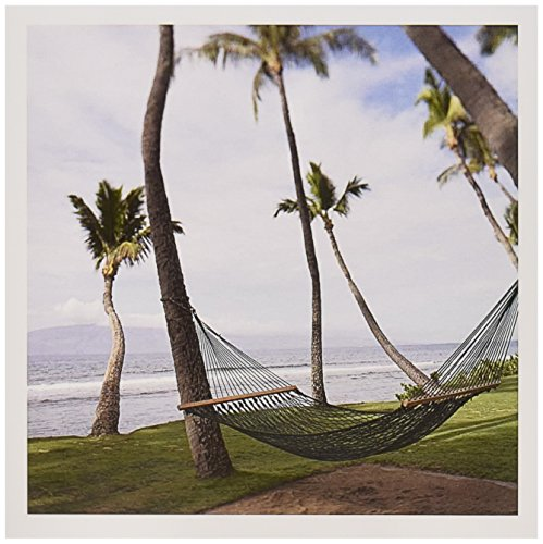 3dRose Hammock under Hawaiian palm trees, Maui, Hawaii - US10 JGS0039 - Jim Goldstein - Greeting Cards, 6 x 6 inches, set of 12 (gc_89190_2)