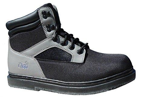 Chota Outdoor Gear STL Light Felt Bottom Wading Boots, Black/Grey, Size (Chota Wading Boots)