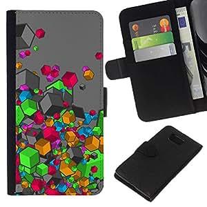 All Phone Most Case / Oferta Especial Cáscara Funda de cuero Monedero Cubierta de proteccion Caso / Wallet Case for Samsung ALPHA G850 // Abstract Colors