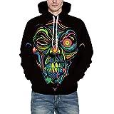 Men's Autumn Winter 3D Print Long Sleeve Hooded Sweatershirt Top Blouse PASATO New Hot!(Multicolor, XXL/XXXL)