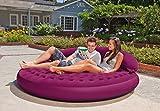 Intex Ultra Lounge Queen Size Inflatable Velvet Sofa Cum Bed