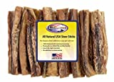 Shadow River 25 Pack 6 Inch Jumbo All Natural Steer Sticks for Dogs