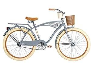 Men's Deluxe Cruiser Bike, 26-Inch, Gray